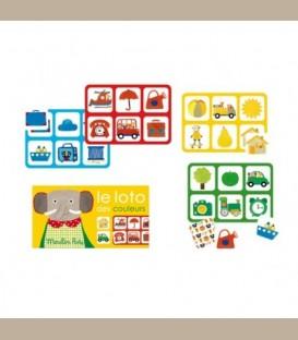 Moulin Roty - Επιτραπέζιο παιχνίδι Λότο χρωμάτων Les Popipop +2y