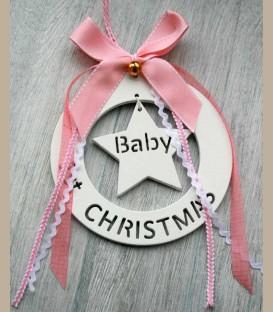 Στολίδι 1st Christmas Baby για κοριτσάκι 16εκ
