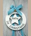 Στολίδι 1st Christmas Baby για αγοράκι 16εκ