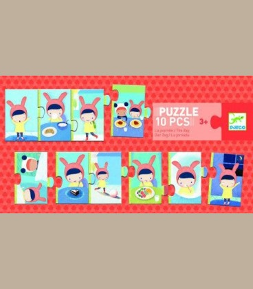 Djeco - Puzzle Οι πρώτες μου καθημερινές δραστηριότητες +3y