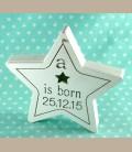 Πιστοποιητικό γέννησης ξύλινο κουτί αστέρι
